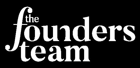 The Founders Team Logo - White